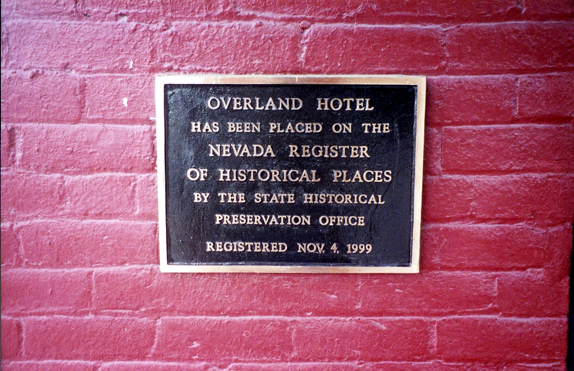 Overland Hotel Nevada Register of Historical Places